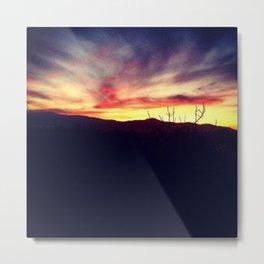 Cloudy Sunset Metal Print