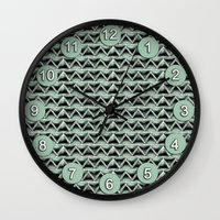 malachite Wall Clocks featuring Malachite Triangles by naturessol