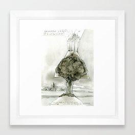 Volcano tree Framed Art Print