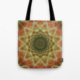 Mandala fractal flower orange Tote Bag