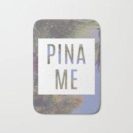 PINA ME - funny tropical palm tree print Bath Mat