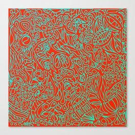 Crazy Zentagle Canvas Print