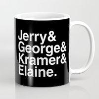 seinfeld Mugs featuring Seinfeld Jetset by Bill Pyle