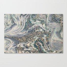 Metallic Marbled Agate Canvas Print