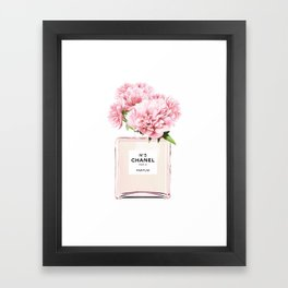 Flowers print, Fashion, Perfume, Scandinavian, Minimalist, Wall Art Framed Art Print