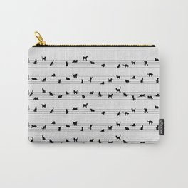 Cute Conceptual Cat Song Music Notation Carry-All Pouch