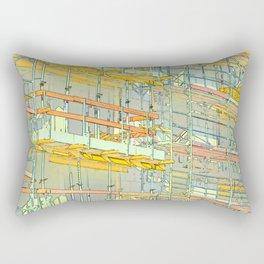 Construction site scaffolding in Berlin Rectangular Pillow