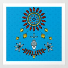 Feather Mandala Art Print