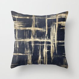 Basket Weave Abstract Throw Pillow
