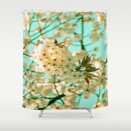 White Spring Love Shower Curtain
