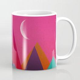 moon light geometric abstract landscape Coffee Mug