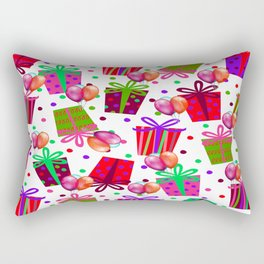 Birthday Gifts and Balloons Rectangular Pillow
