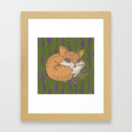 Fall Fox Framed Art Print