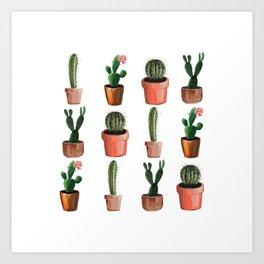 Various Cacti Art Print