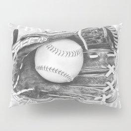 Softball (black and white) Pillow Sham