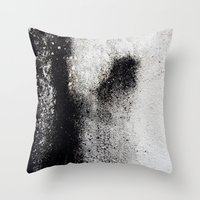 Negro sobre Blanco Throw Pillow