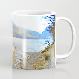 The Shores of Buttermere, Lake District, UK Watercolour Painting Coffee Mug