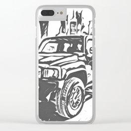 Urban Explorer - Hummer H3 Scetch Clear iPhone Case