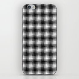 Classic Vintage Black and White Houndstooth Pattern iPhone Skin