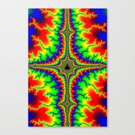 Psychedelic Mandelcross Trippy Fractal Art Print Canvas Print