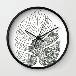 Tropical Serenity Wall Clock