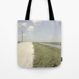 road and canal Tote Bag