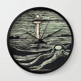Mystical Shore (1897) by Edvard Munch Wall Clock