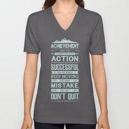 Lab No. 4 Achievement Seems To Be Conrad Hilton Inspirational Quotes Poster Unisex V-Neck