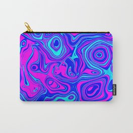 Liquid Color Pink and Blue Carry-All Pouch