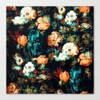 vintage floral Canvas Prints featuring Vintage Floral by Burcu Korkmazyurek