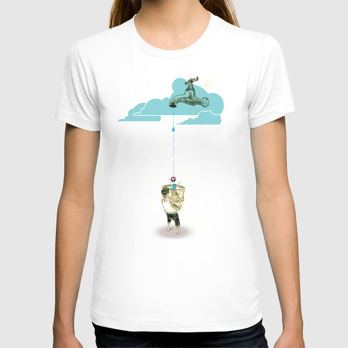 "Glue Network Print Series ""Water / Hygiene / Sanitation"" T-shirt"