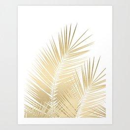 Gold Palm Leaves Dream - Cali Summer Vibes #1 #tropical #decor #art #society6 Art Print