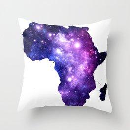 Africa : Purple Blue Galaxy Throw Pillow