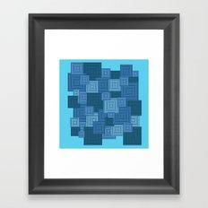 Blue Platformer Framed Art Print