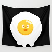 kentucky Wall Tapestries featuring Kentucky Fried Egg by simon oxley idokungfoo.com