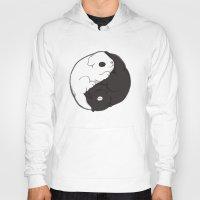 yin yang Hoodies featuring Yin & Yang by Lili Batista