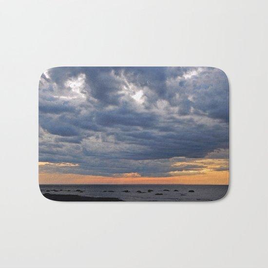 Dramatic Skies Over the Sea Bath Mat