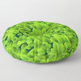 Green leaves pattern Floor Pillow