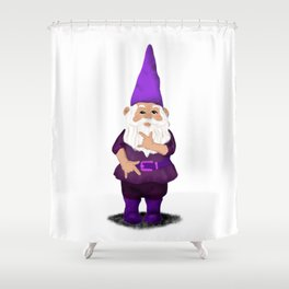 Hangin with my Gnomies - I love you Shower Curtain
