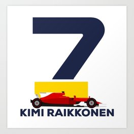 Kimi Raikkonen Logo Art Print