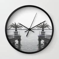 palm Wall Clocks featuring Palm by Sarah Friend