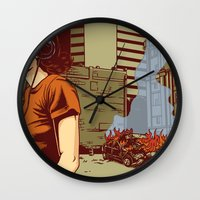 portland Wall Clocks featuring Locals Only - Portland, OR by Joshua Kemble