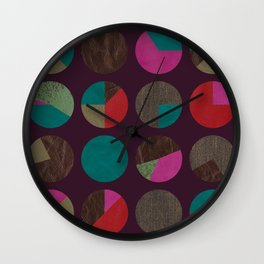 dots and shreds and colors Wall Clock