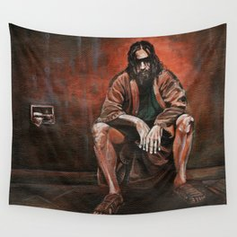 """The Dude, """"You pissed on my rug!"""" Wall Tapestry"""