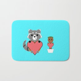 Rocket and Groot BFFs Bath Mat