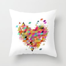 Heart1 White Throw Pillow