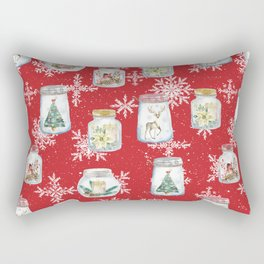 Christmas Jars Rectangular Pillow