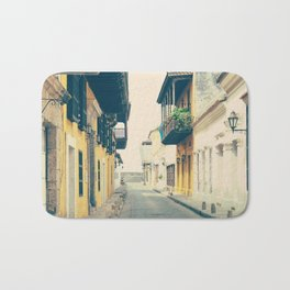 Summer Town (Retro and Vintage Urban, architecture photography) Bath Mat