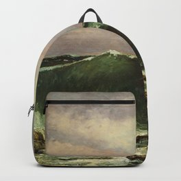 """Gustave Courbet """"The Wave 1869 private"""" Backpack"""