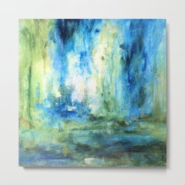Contemporary Abstract Painting Spring Rain Metal Print